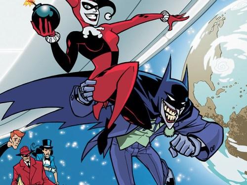 bat joker throwing harley