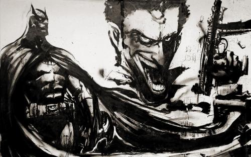 batman and joker waterpaint