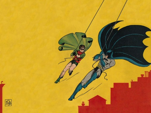 batman and robin swinging