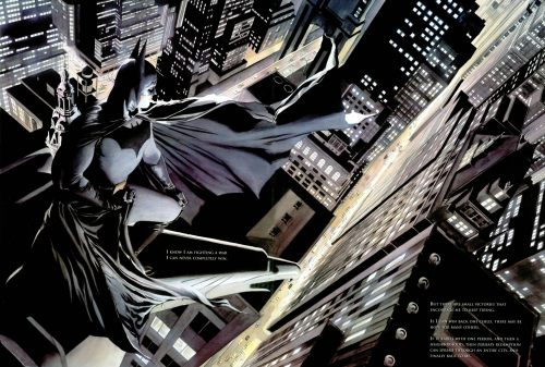 batman on the roof top