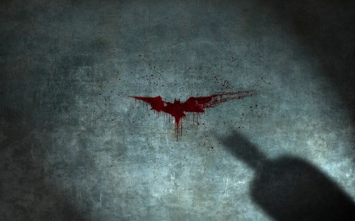 bloody batman logo
