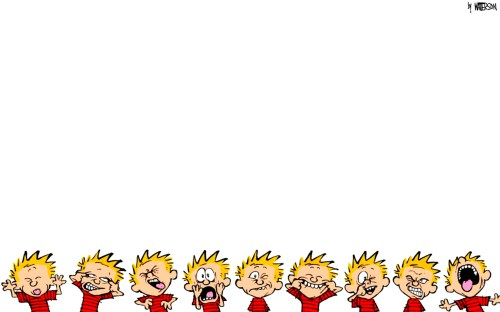 calvin and hobbes – faces