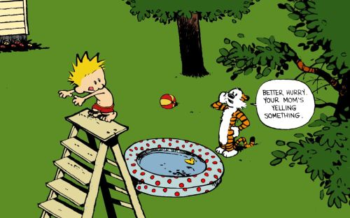 calvin and hobbes – moms yelling something