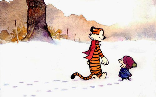 calvin and hobbes – snow walkers