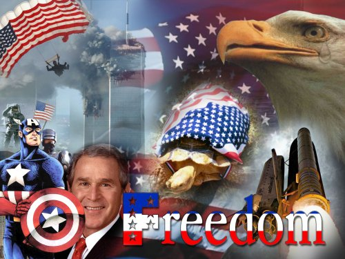 captain america and george bush – freedom