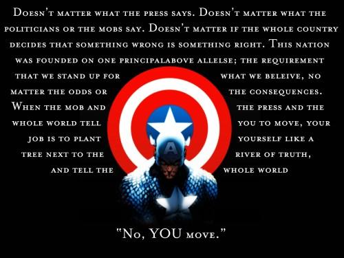 captain america – no you move