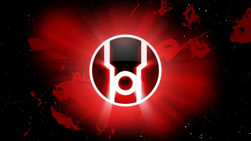 red lantern logo in space