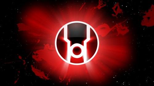 red lantern logo in space