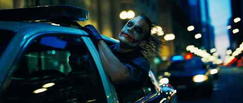 the dark knights – joker's back seat ride