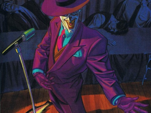 the joker on stage