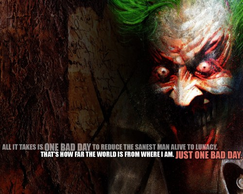 the joker – one bad day