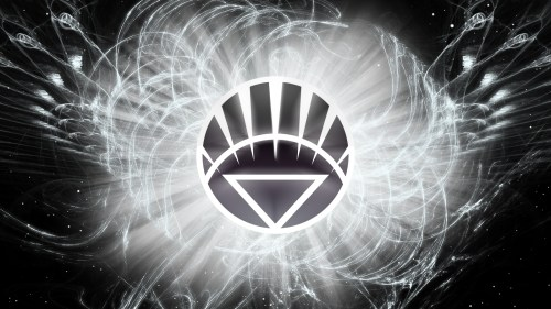 white lantern logo in space