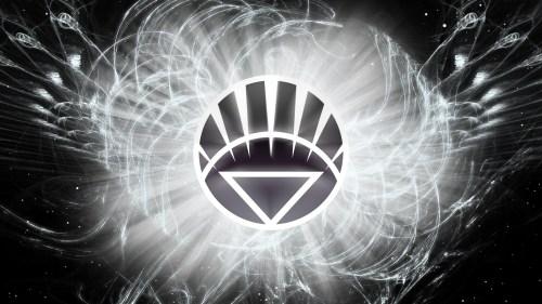 white lantern logo in space