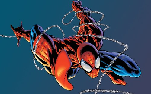 spider-man is tangled