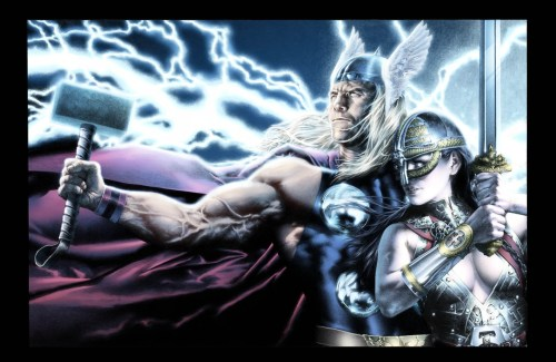 thor and woman