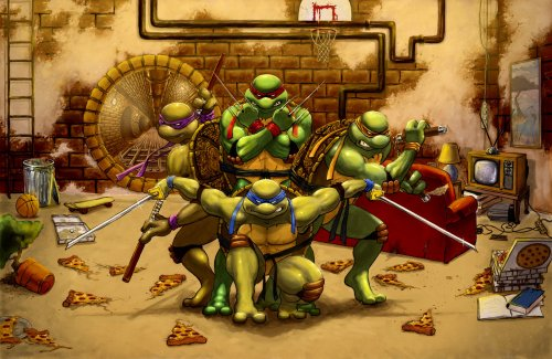 tmnt vs pizza