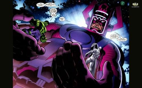 silver surfer, hulk, galactus