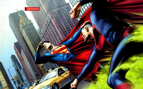 superman vs superman – green fire