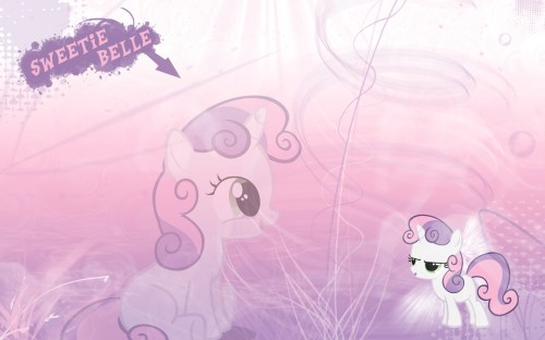 sweetie belle is shiney