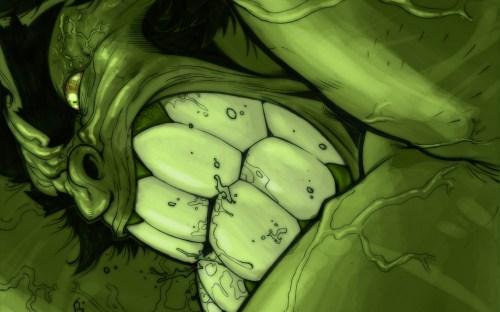 the hulk has huge teeth
