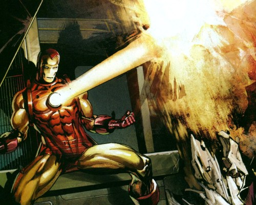 iron man chest blast