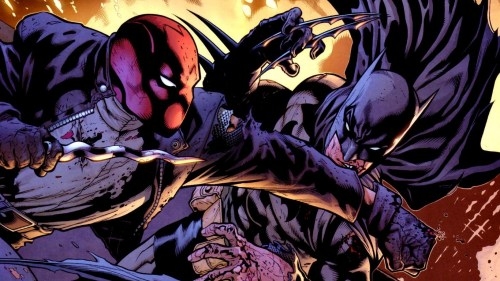 red hood vs batman