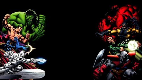 red hulk vs green hulk and friends