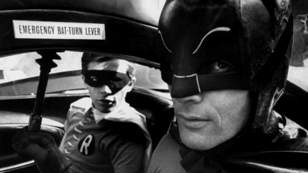 emergency bat-turn lever – adam west batman, burt ward robin