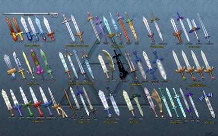 zelda swords