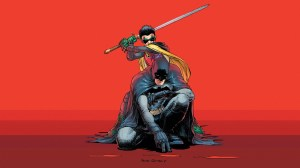 Robin about to kill Batman