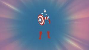 Captain America negative space