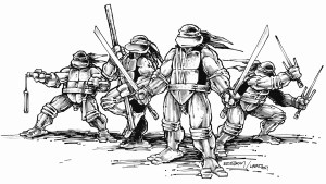 TMNT black and white