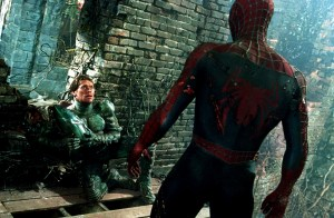 Spider-man vs the unmasked Green Goblin
