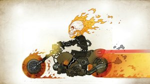 chibi ghost rider moving
