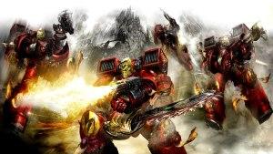 red warhammer space marines