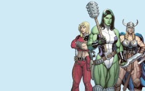 she hulk with woman fighters