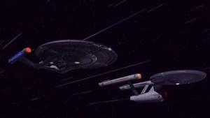 Avenger and Defiant at Warp