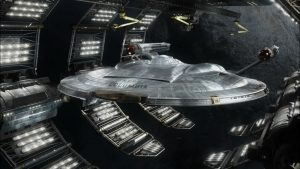NX-01 Columbia in Spack Dock
