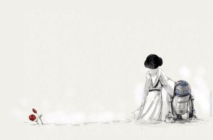 Princess Leia RIP Wallpaper