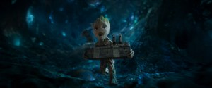 baby groot scream with a bomb