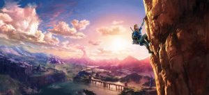 Zelda Climbing wallpaper