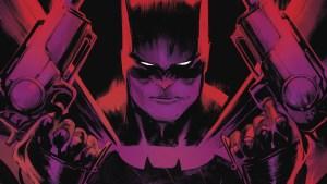 Batman with red guns