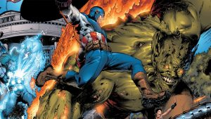 Captain America vs The Green Goblin