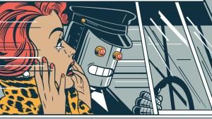 Insane Robot Driver Horror