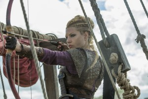 Lagatha with a bow