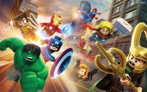 Marvel LEGO Superheroes flying into action