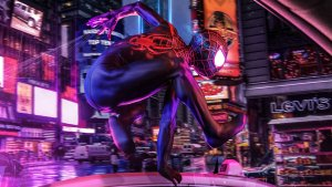 Spider-man in Times Square