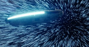The Millenium Falcon at light speed