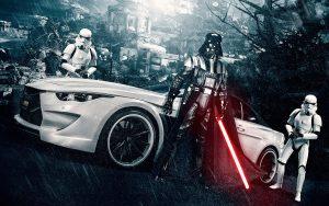 Vader and a sports car 300x188 Vader and a sports car