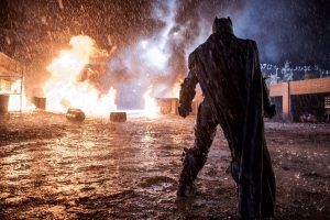 batman by a fire
